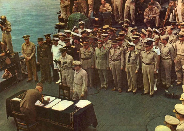 Sign Final Surrender in 1945