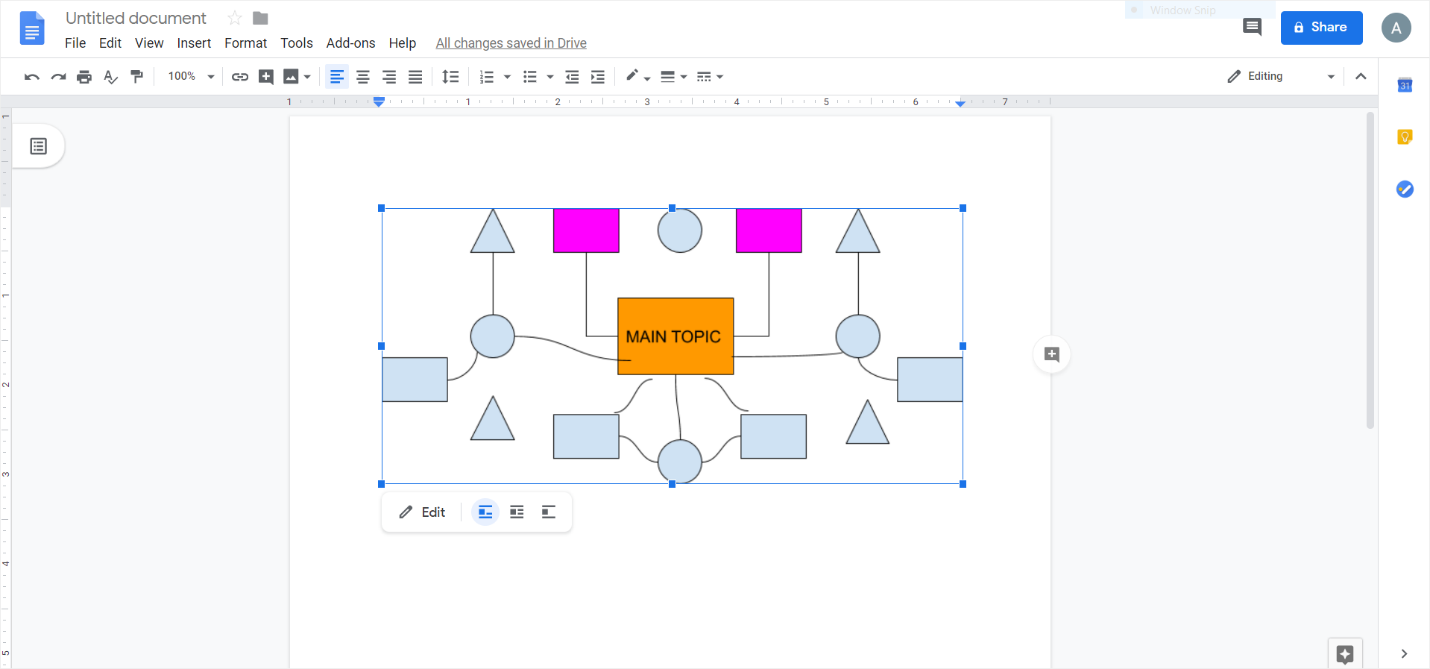 add a concept map on google docs