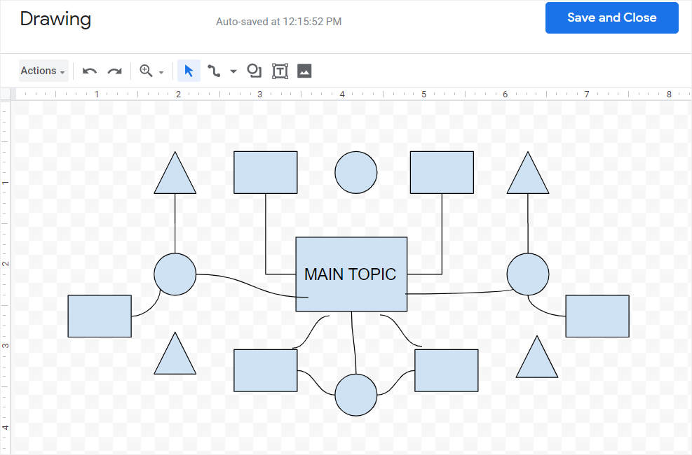 draw a concept map in google docs